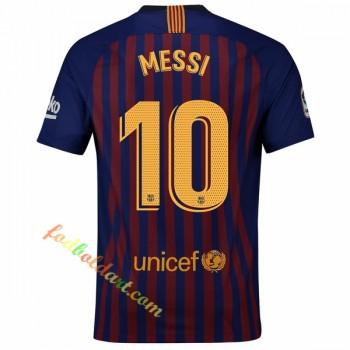 Barcelona Fodboldtrøjer 2018-19 Lionel Messi 10 Hjemmebanetrøje