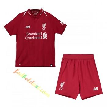 Billige Fodboldtrøjer Liverpool Trøje Børn 2018-19 Hjemmebanetrøje