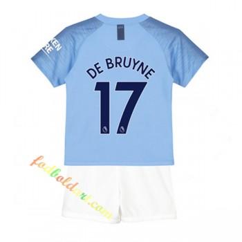 Billige Fodboldtrøjer Manchester City Trøje Børn 2018-19 De Bruyne 17 Hjemmebanetrøje