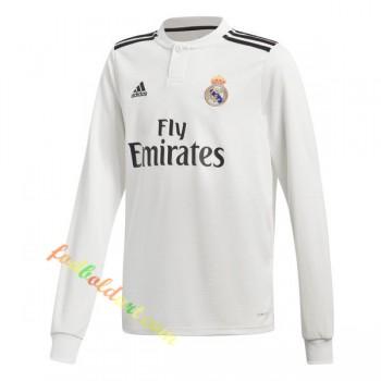 Real Madrid Fodboldtrøjer 2018-19 Hjemmebanetrøje Langærmet