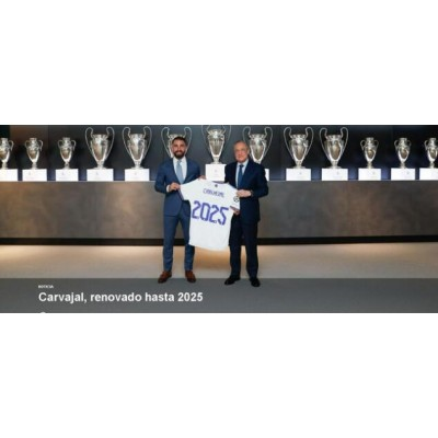 Real Madrid -embedsmand annoncerer forlængelse af kontrakt med Carvajal